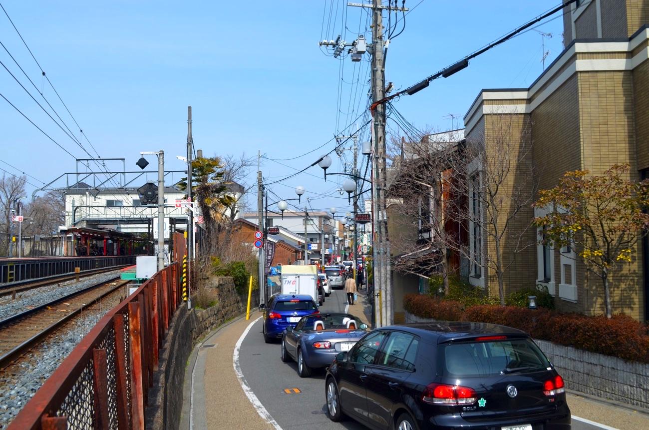 伏見稲荷大社の周辺は渋滞しやすい