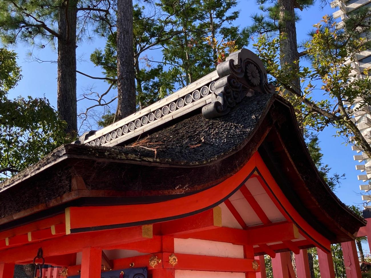 藤尾社の屋根