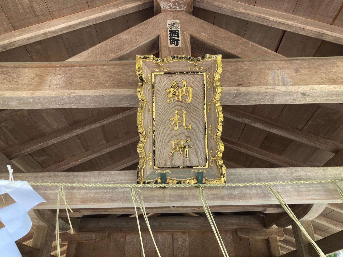 納札所の神額
