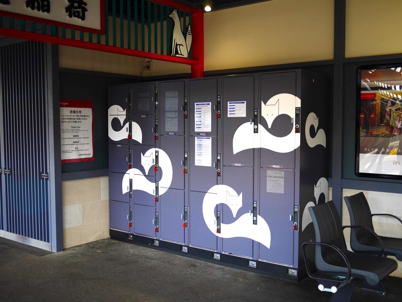 京阪・伏見稲荷駅のコインロッカー