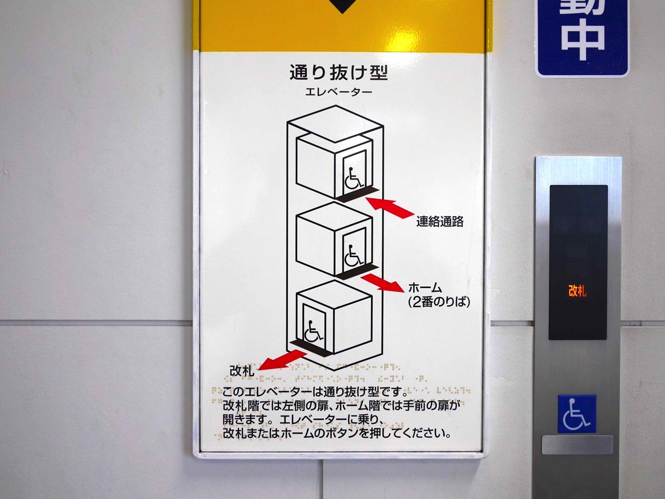 エレベータで移動する
