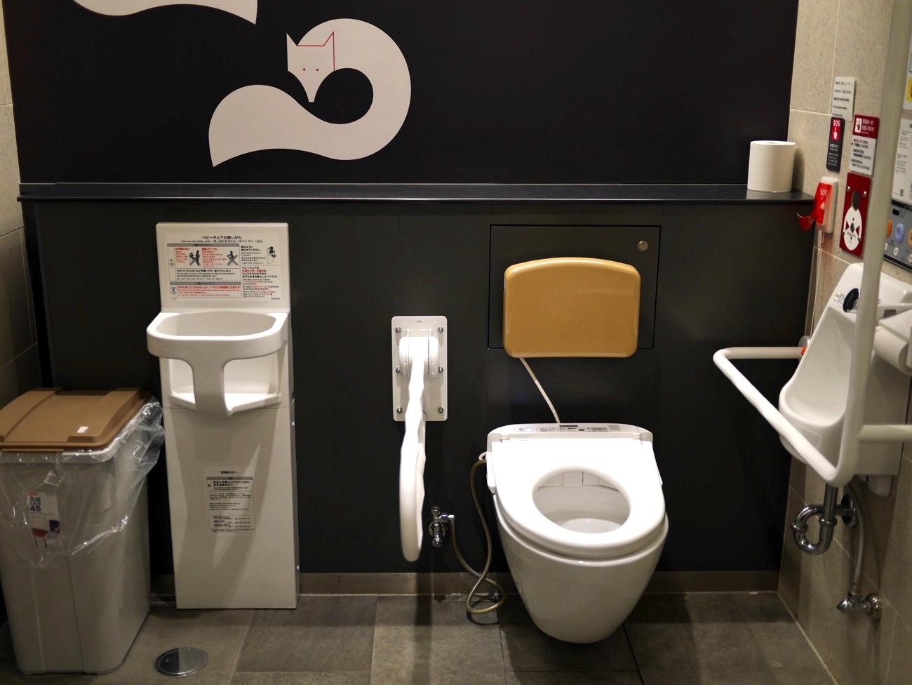 京阪電車・伏見稲荷駅の多機能トイレ