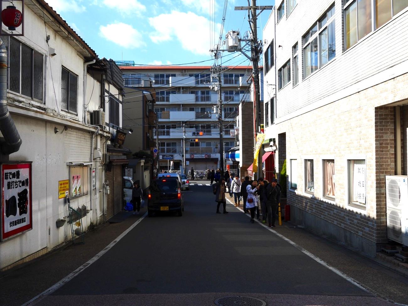 京阪電車・伏見稲荷駅の西側にある