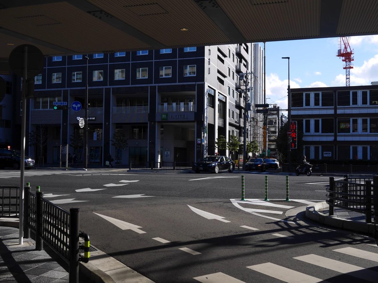 京都駅の南側にあるMKタクシーのりば
