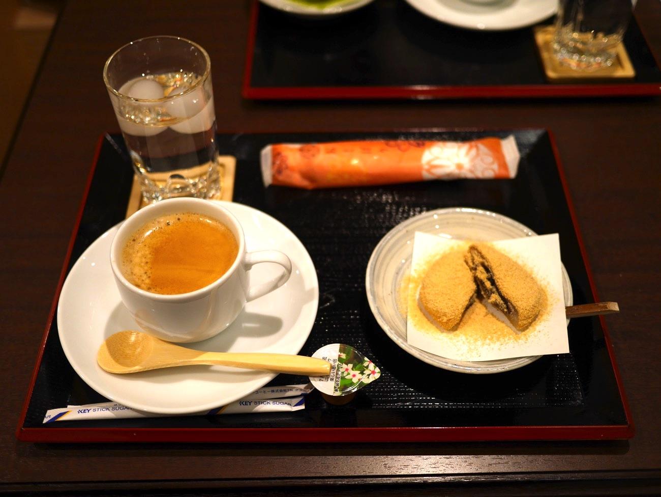 コーヒーと五福餅のセット