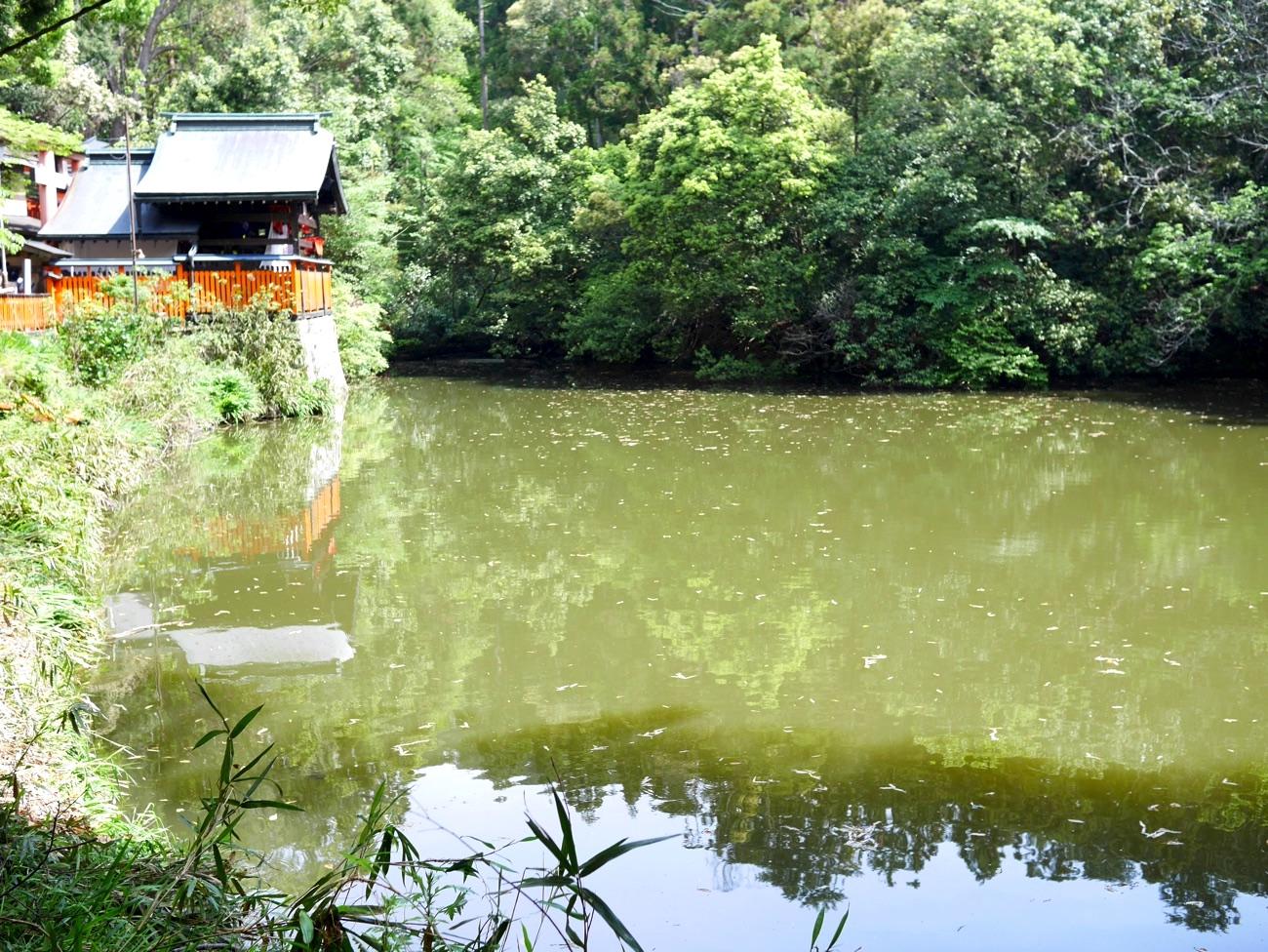 元の谺ヶ池(新池)の景観に