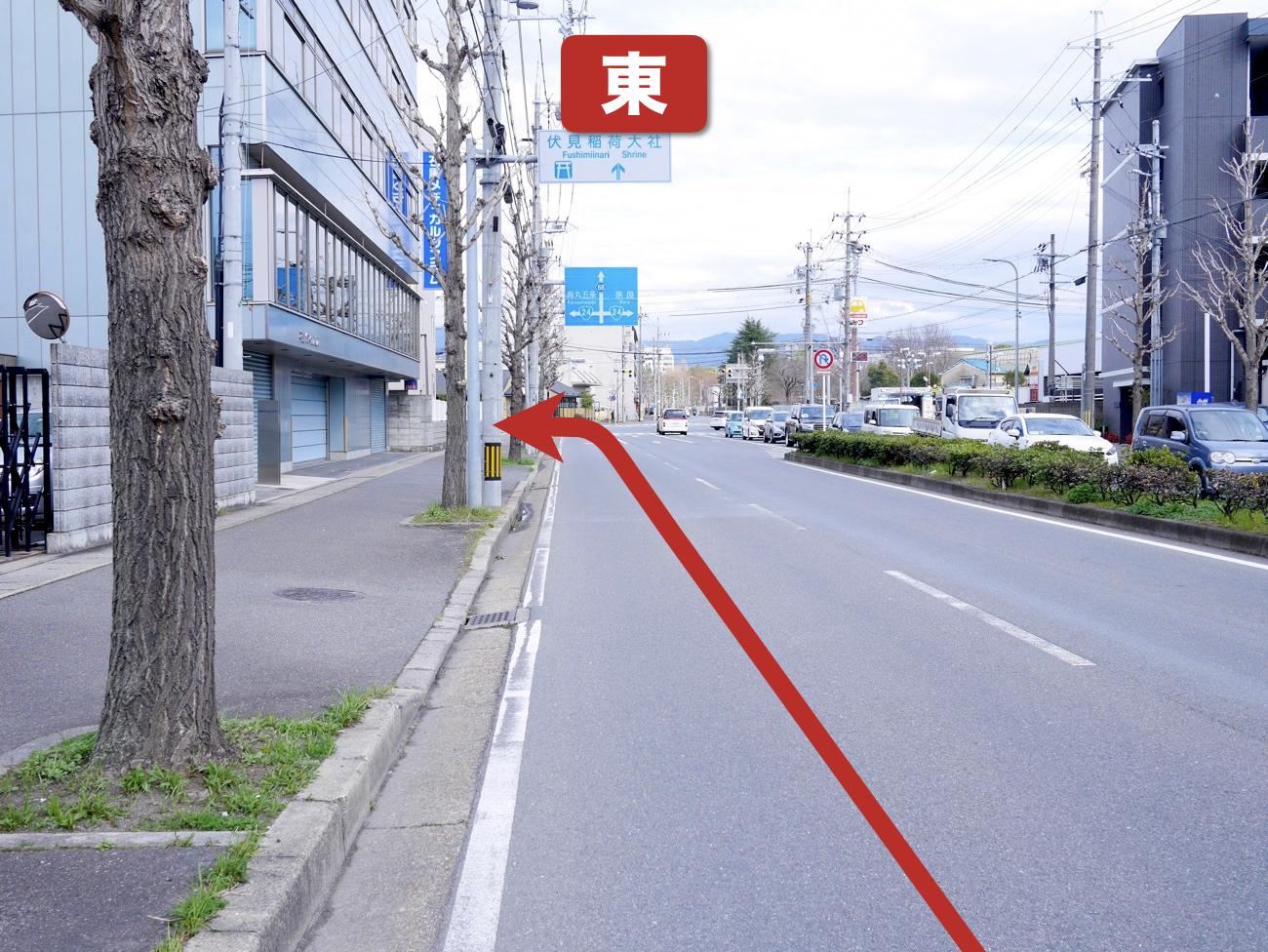 「竹田出橋」を左折